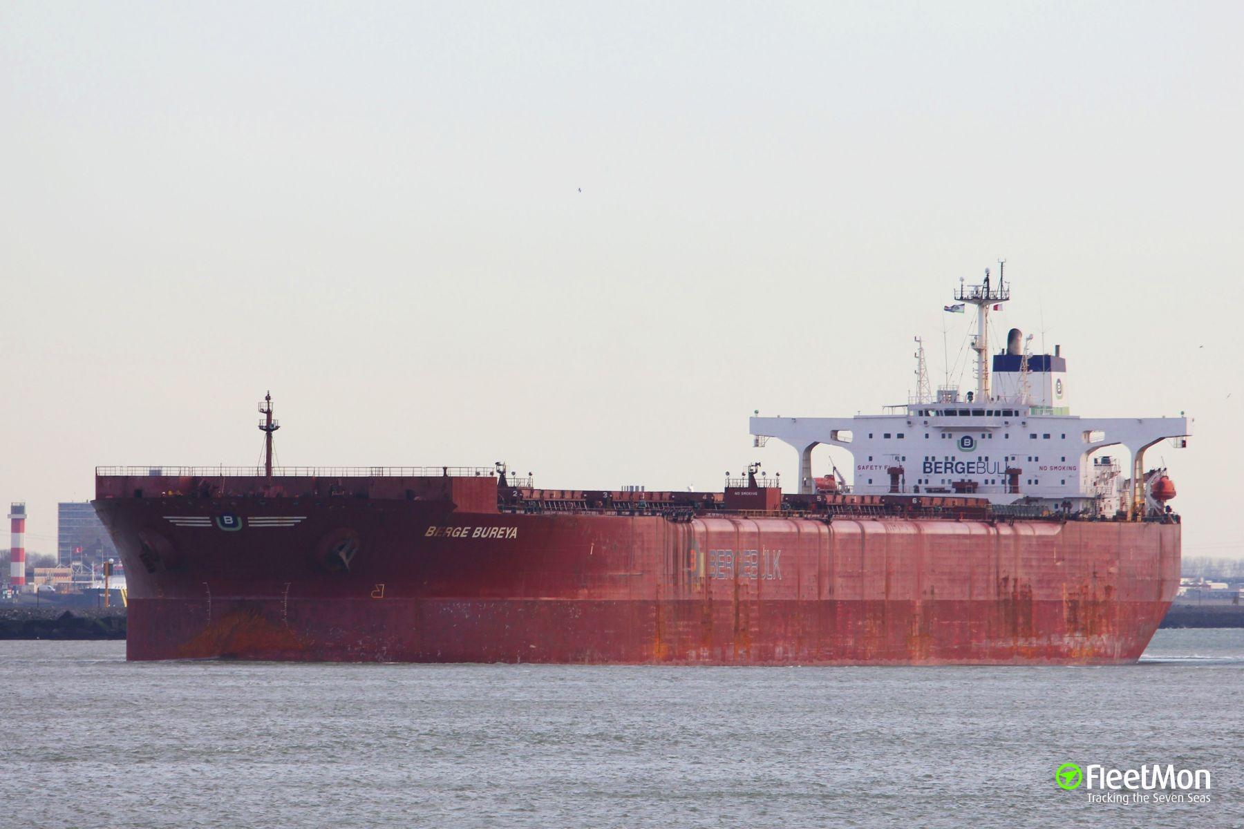 Ore carrier BERGE BUREYA fuel spill, Singapore Strait