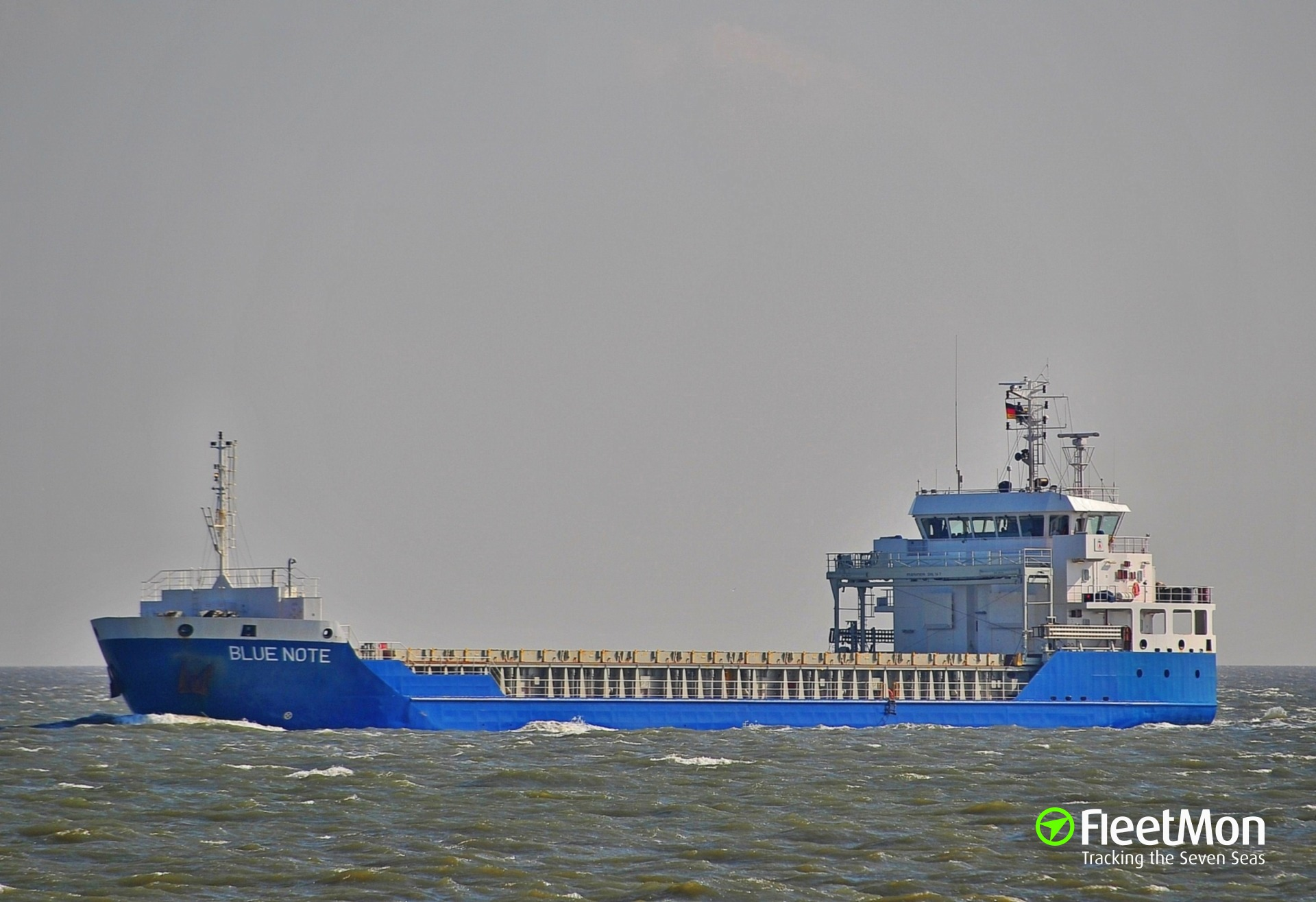 Freighter BLUE NOTE troubled in Aegean Sea in stormy weather