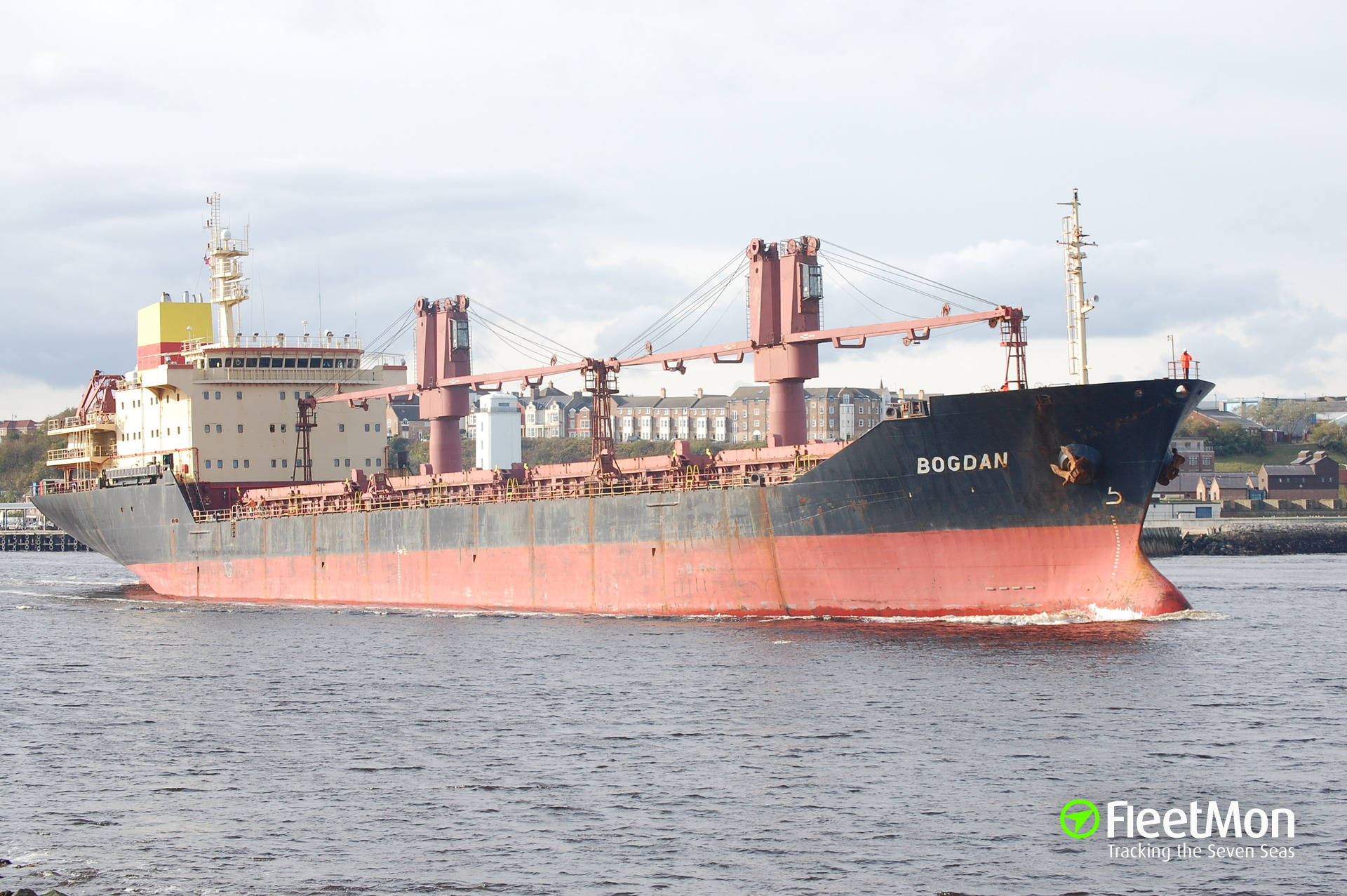 Bulk carrier Bogdan struck the wall and blocked the channel, Iroquois Lock