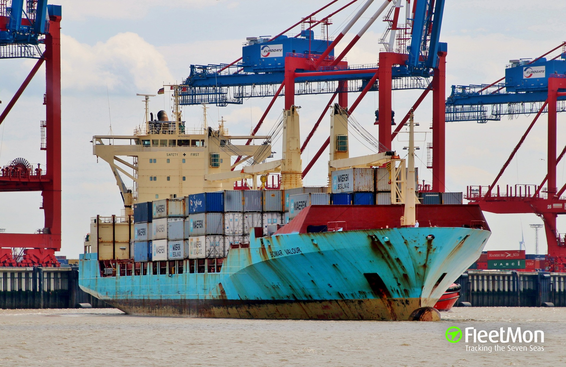 Three Maersk container ships are stranded in Bremerhaven since July 14
