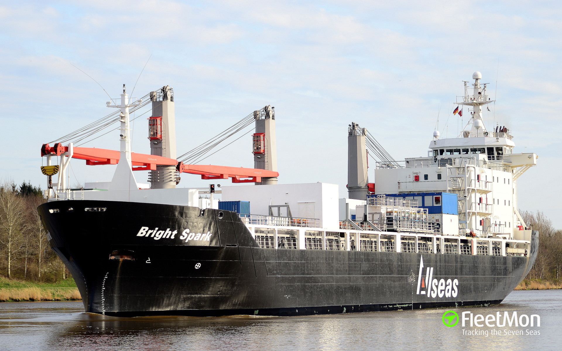 General cargo vessel Bright Spark fire