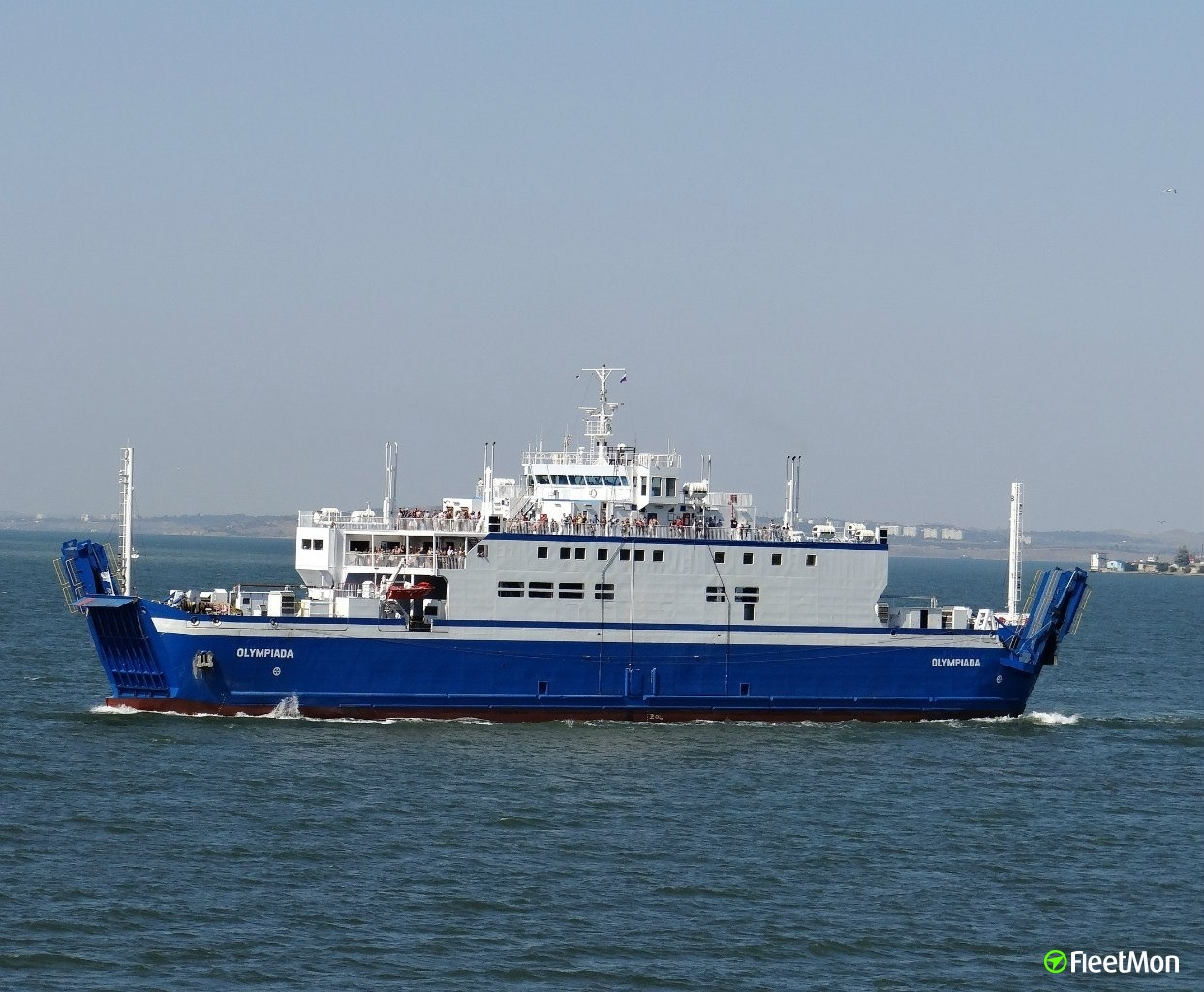 Ferry Olympiada dented in allision with lier, Kerch, Crimea