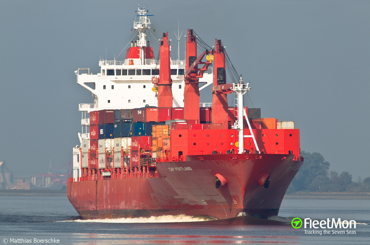 Cap portland porte conteneurs imo 9344631 for Porte 4 cap janet