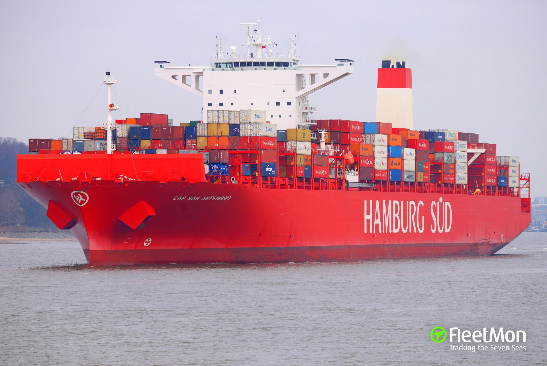 Cocaine found on mega boxship CAP SAN ARTEMISSIO, vessel detained