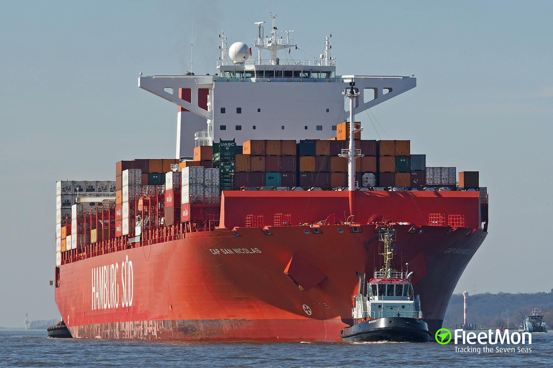 322 kilo of cocaine found in container lon board of boxship CAP SAN NICOLAS