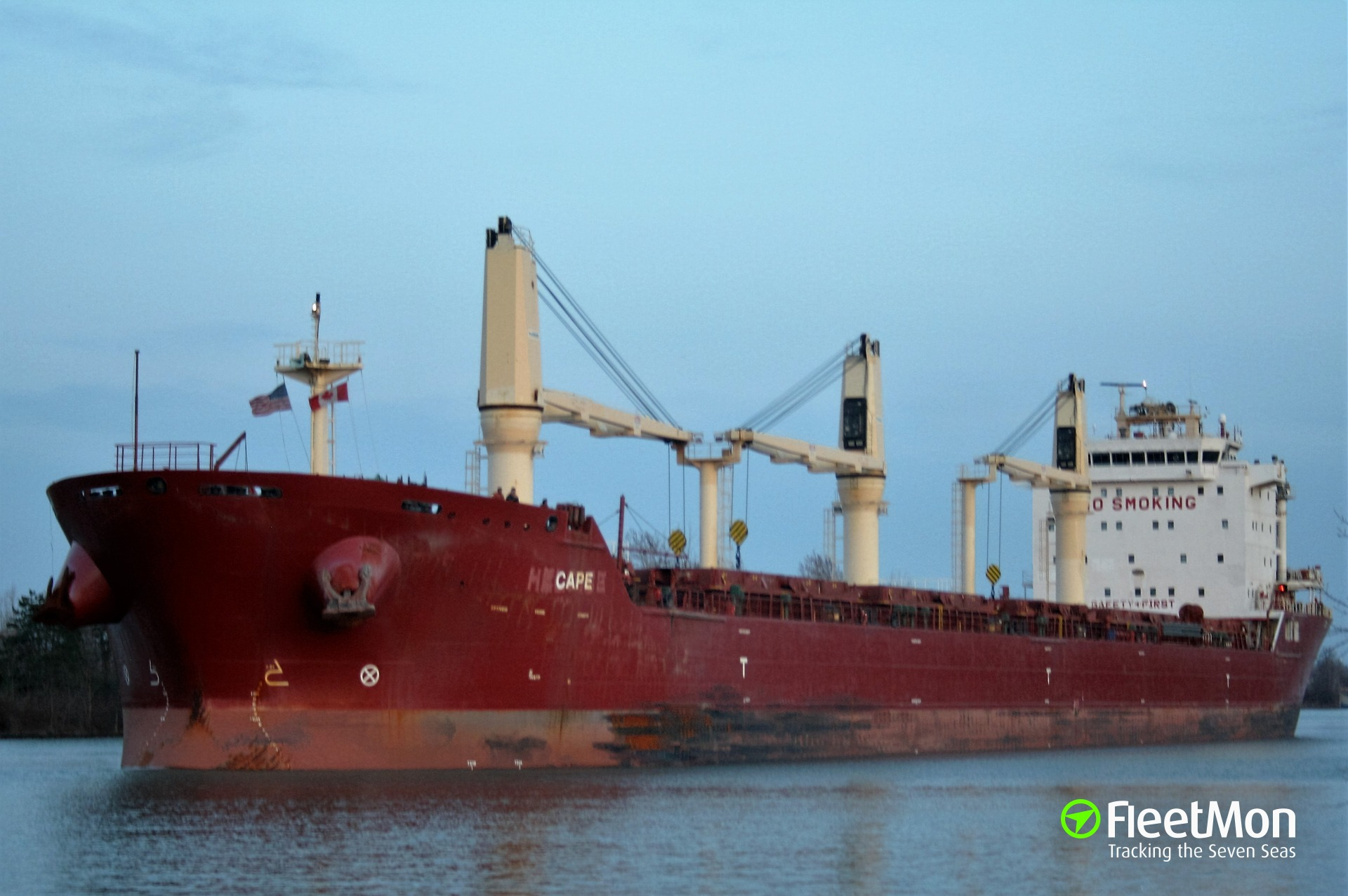 Bulk carrier Heloise collided with the tug in Port of Montreal