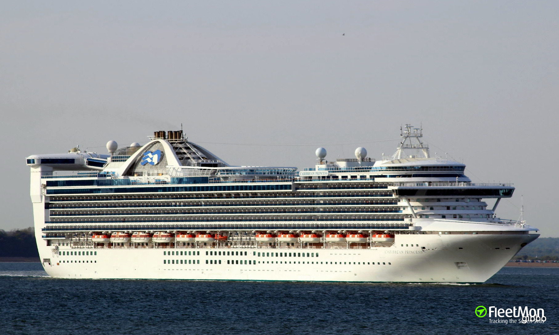 Ship CARIBBEAN PRINCESS Troubled In Irish Sea - Cruise ship caribbean