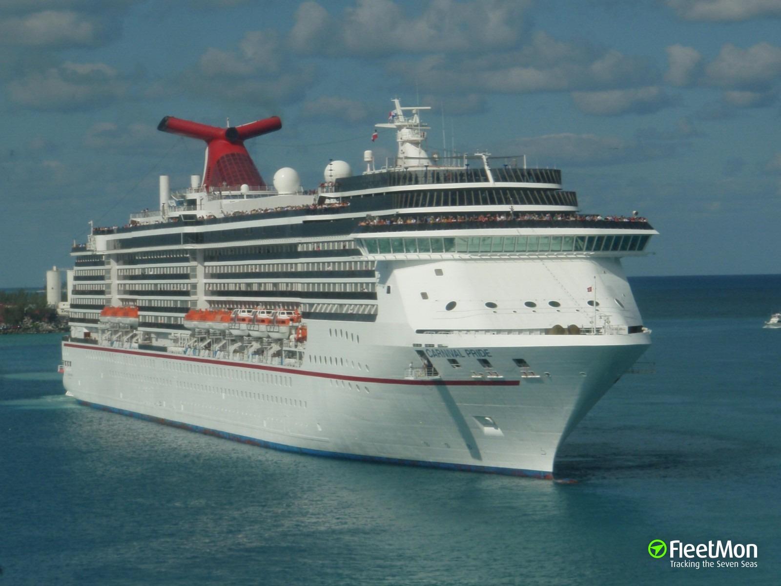 Cruise ship Carnival Pride struck passenger gangway in Baltimore