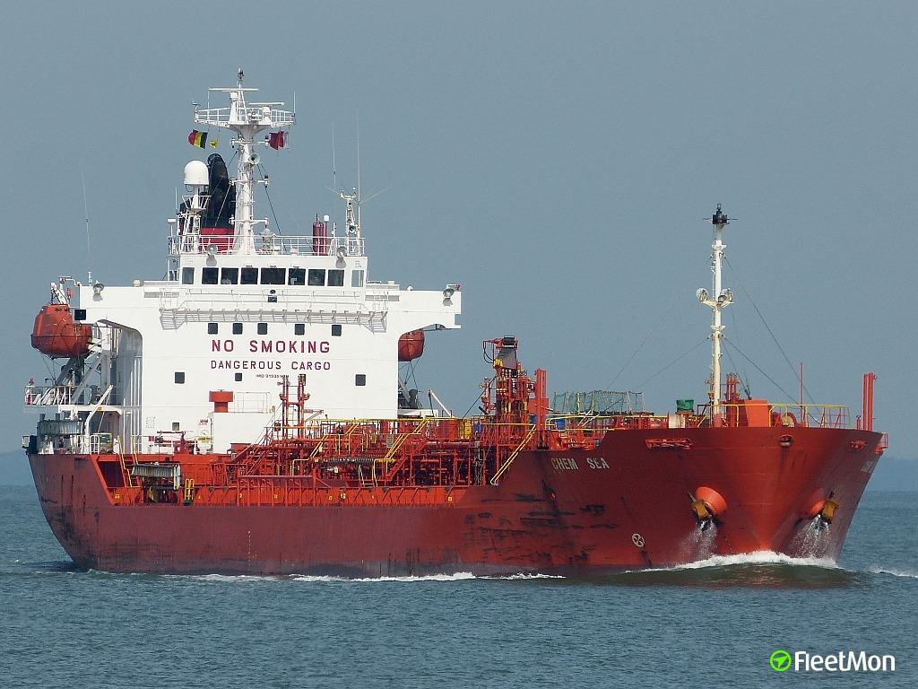Chemical tankers Chem Sea and Bow Kiso collided off Galveston, fuel leak