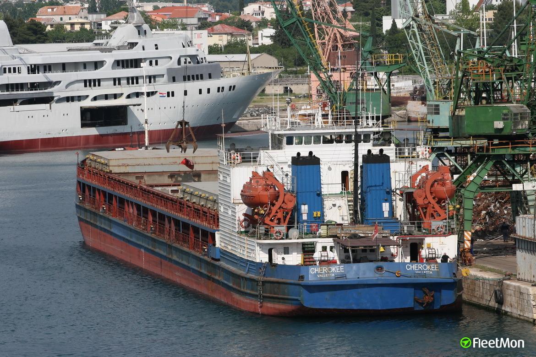 Freighter adrift in Aegean sea