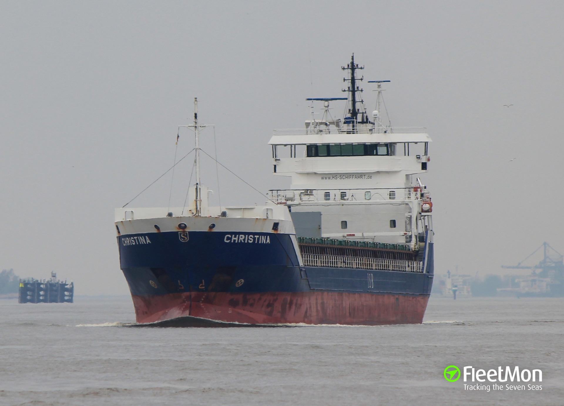 General cargo vessel Christina accident