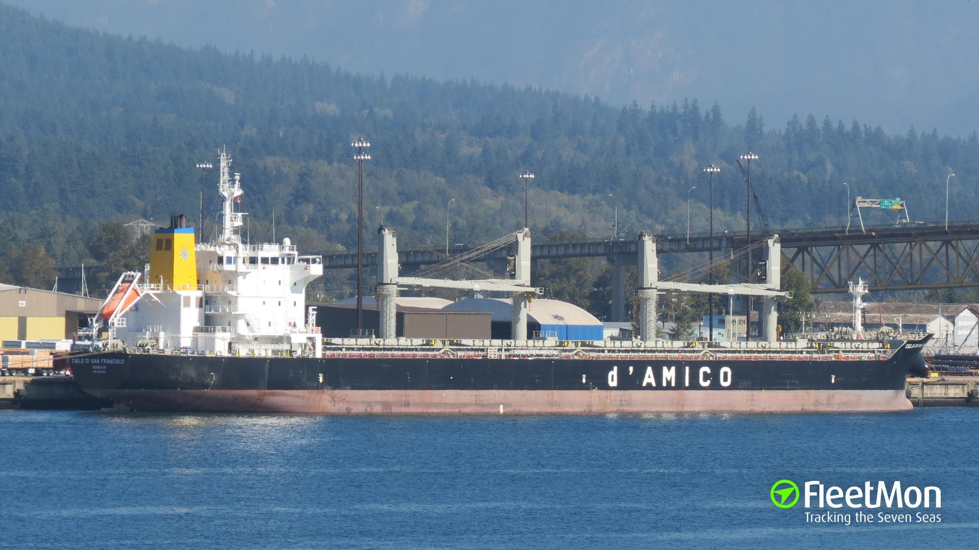 Bulk carrier Cielo di San Francisco ran aground, Dublin