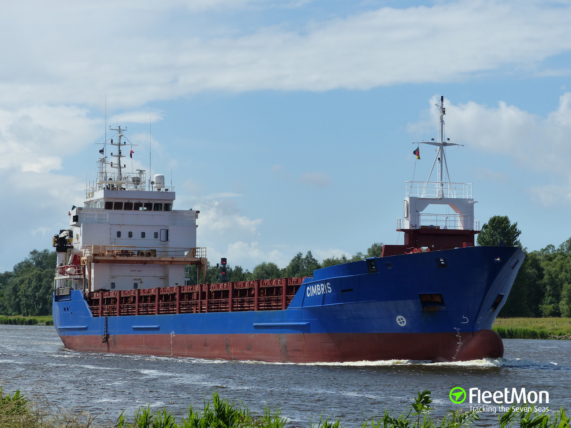Vessel with animal feed cargo catches fire in Ireland