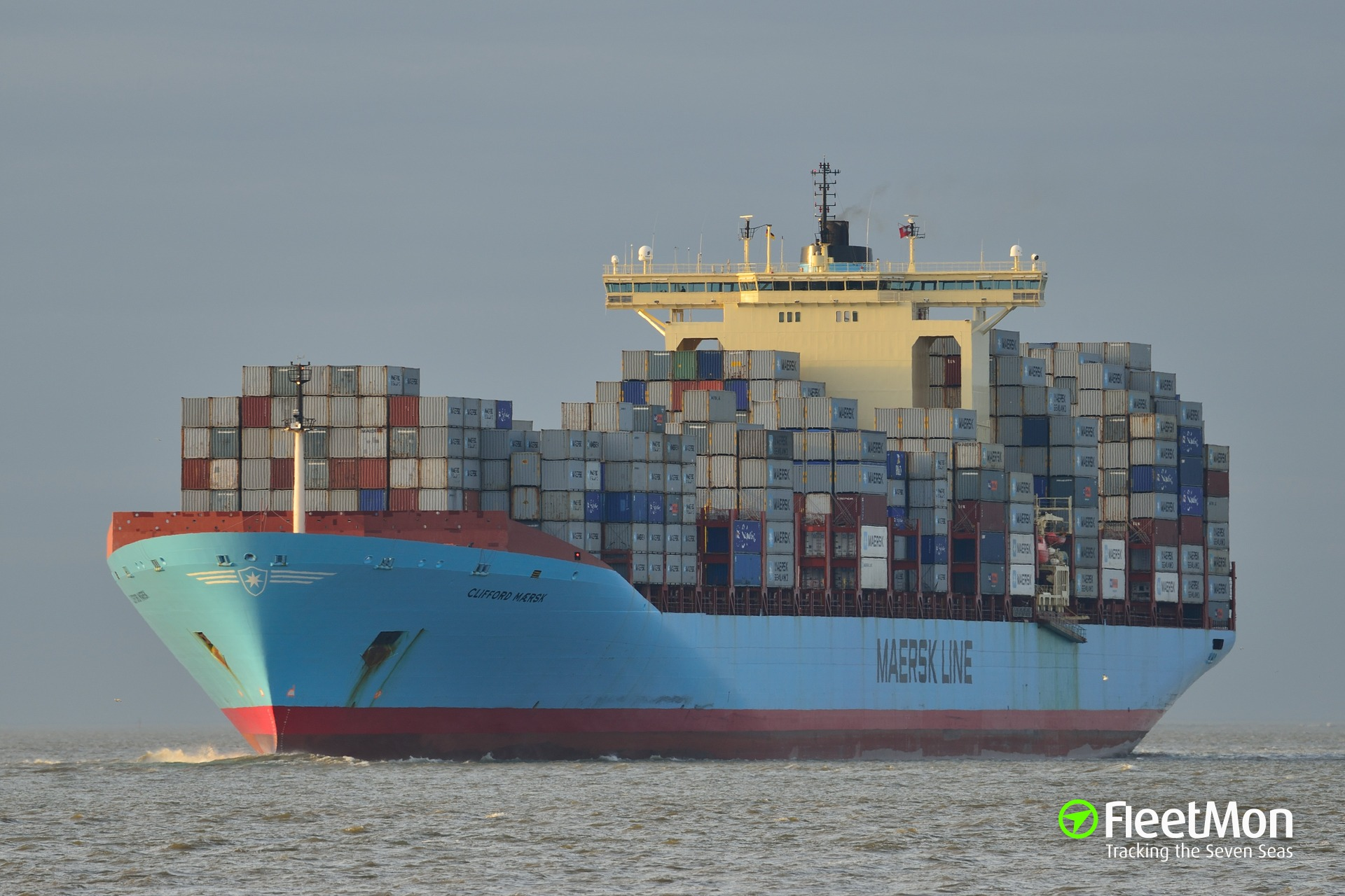 177 kilos of cocaine found attached to CLIFFORD MAERSK hull