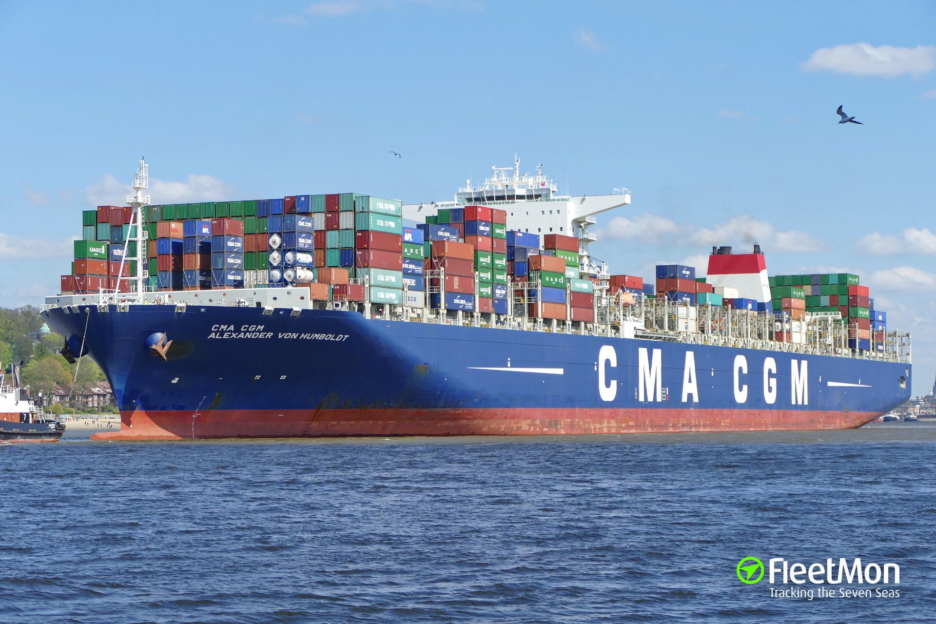 Christening of CMA CGM VON HUMBOLDT in Hamburg