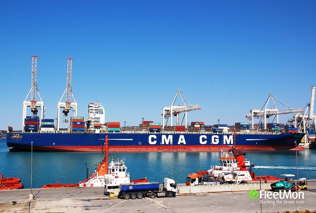 Cma cgm fidelio container ship imo 9299642 - Cma cgm sailing schedule port to port ...