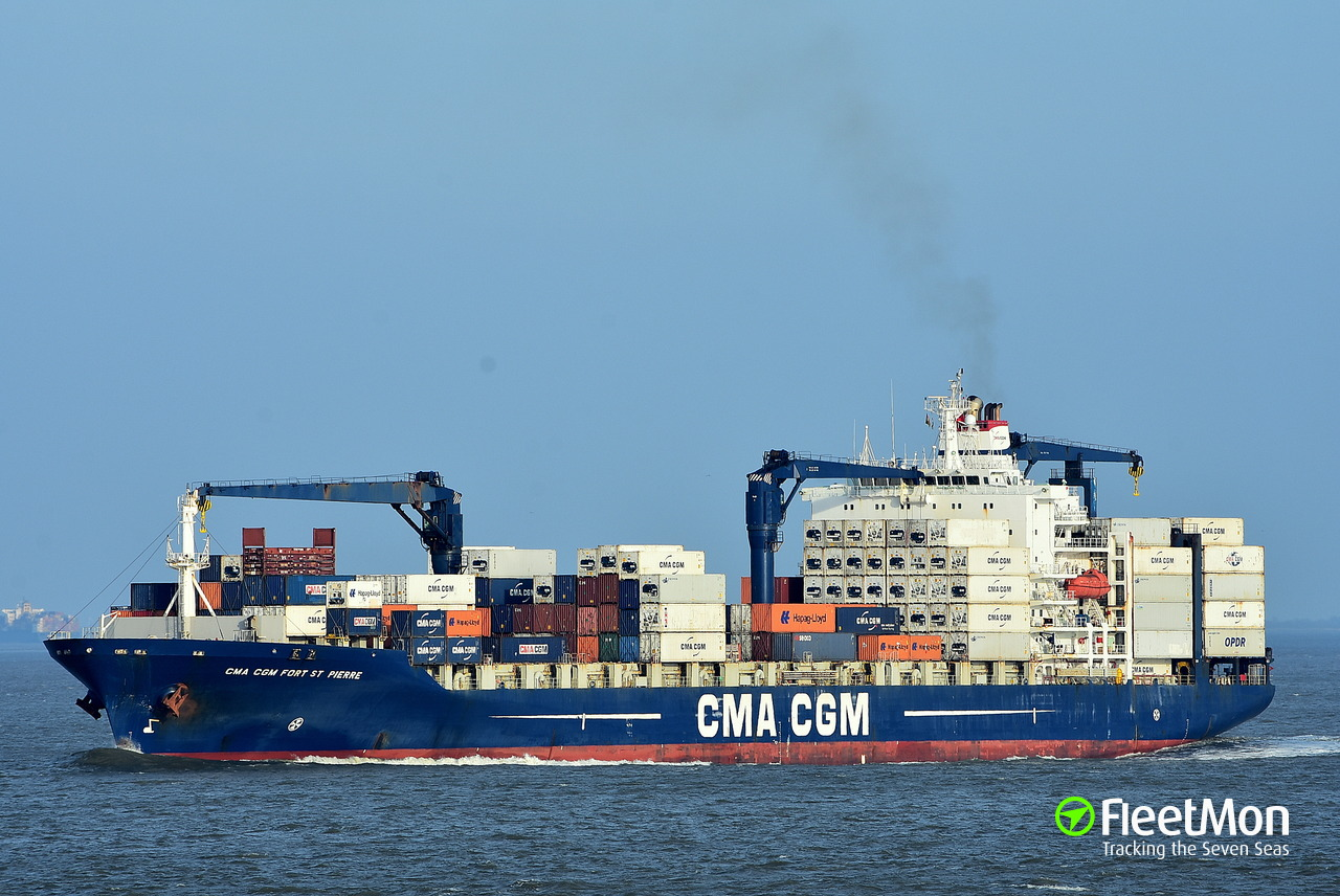cma cgm fort st pierre container ship imo 9261891