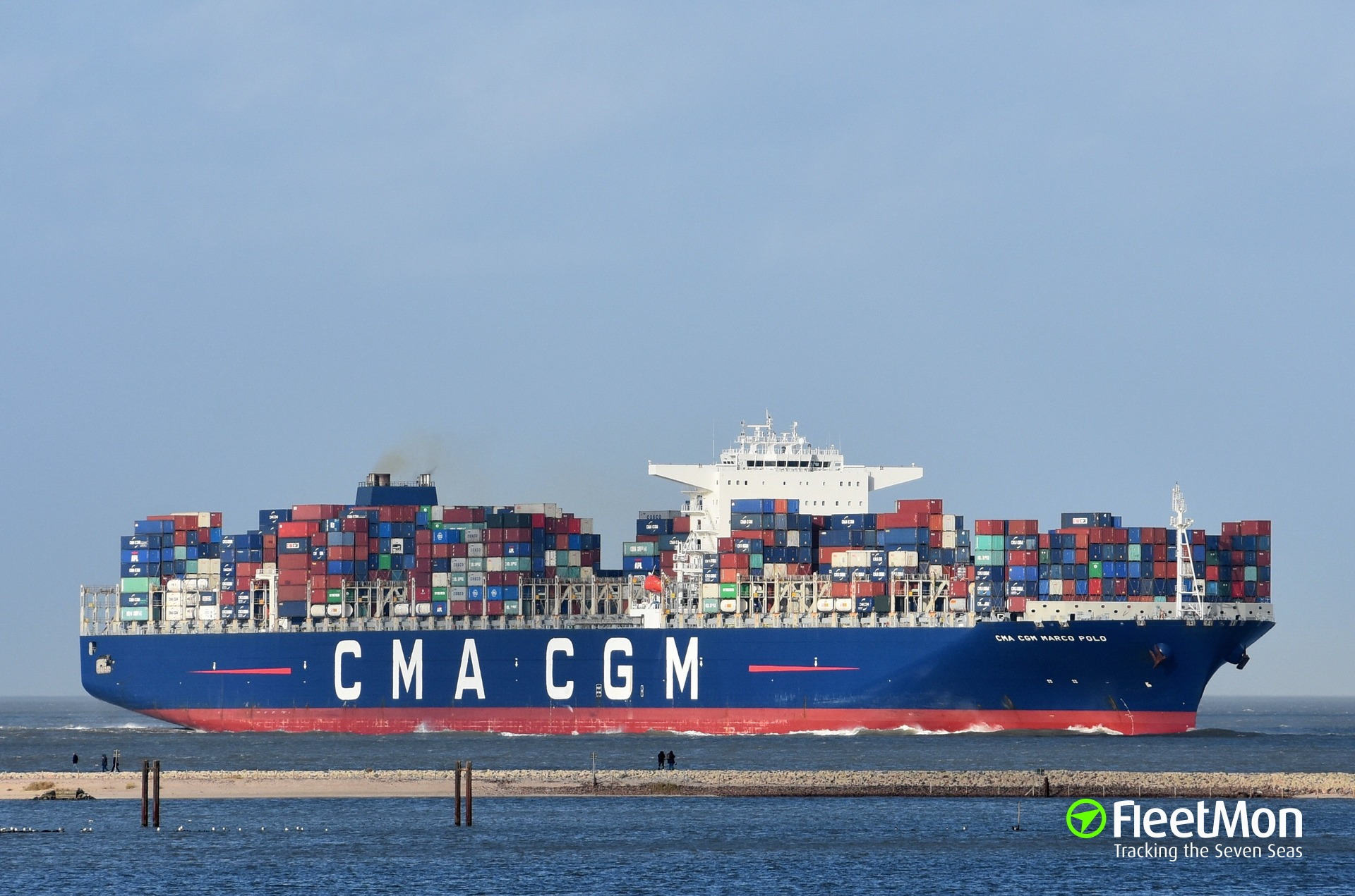 MARCO POLO, largest container ship of the world, to call Hamburg