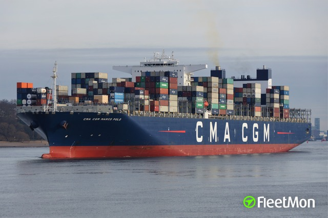CMA CGM mega container ship stranded, waiting for virus test result