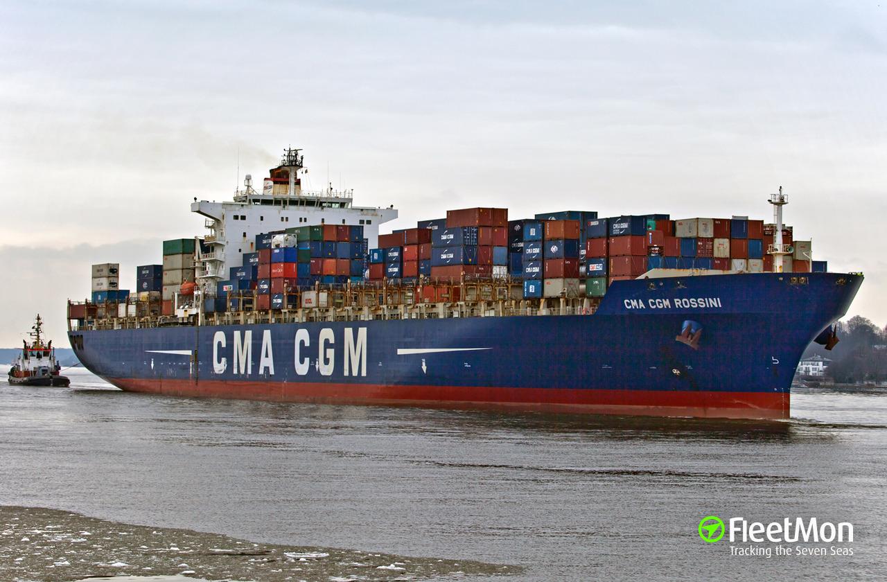 Cma cgm rossini container ship imo 9280639 - Cma cgm sailing schedule port to port ...