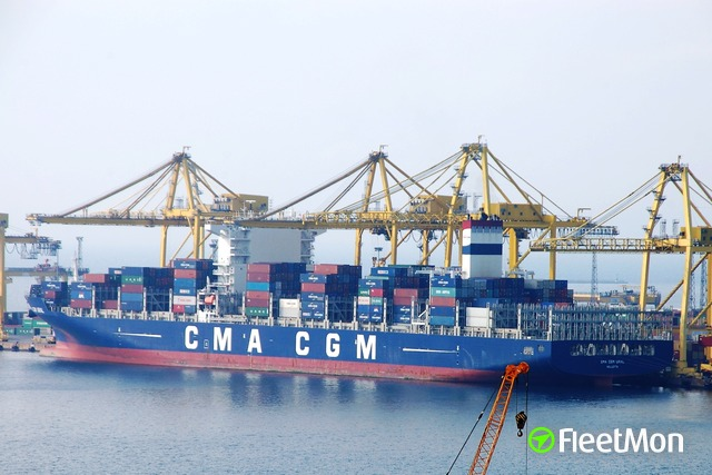 CMA CGM container ship sailing from China reported 6 crew with fever