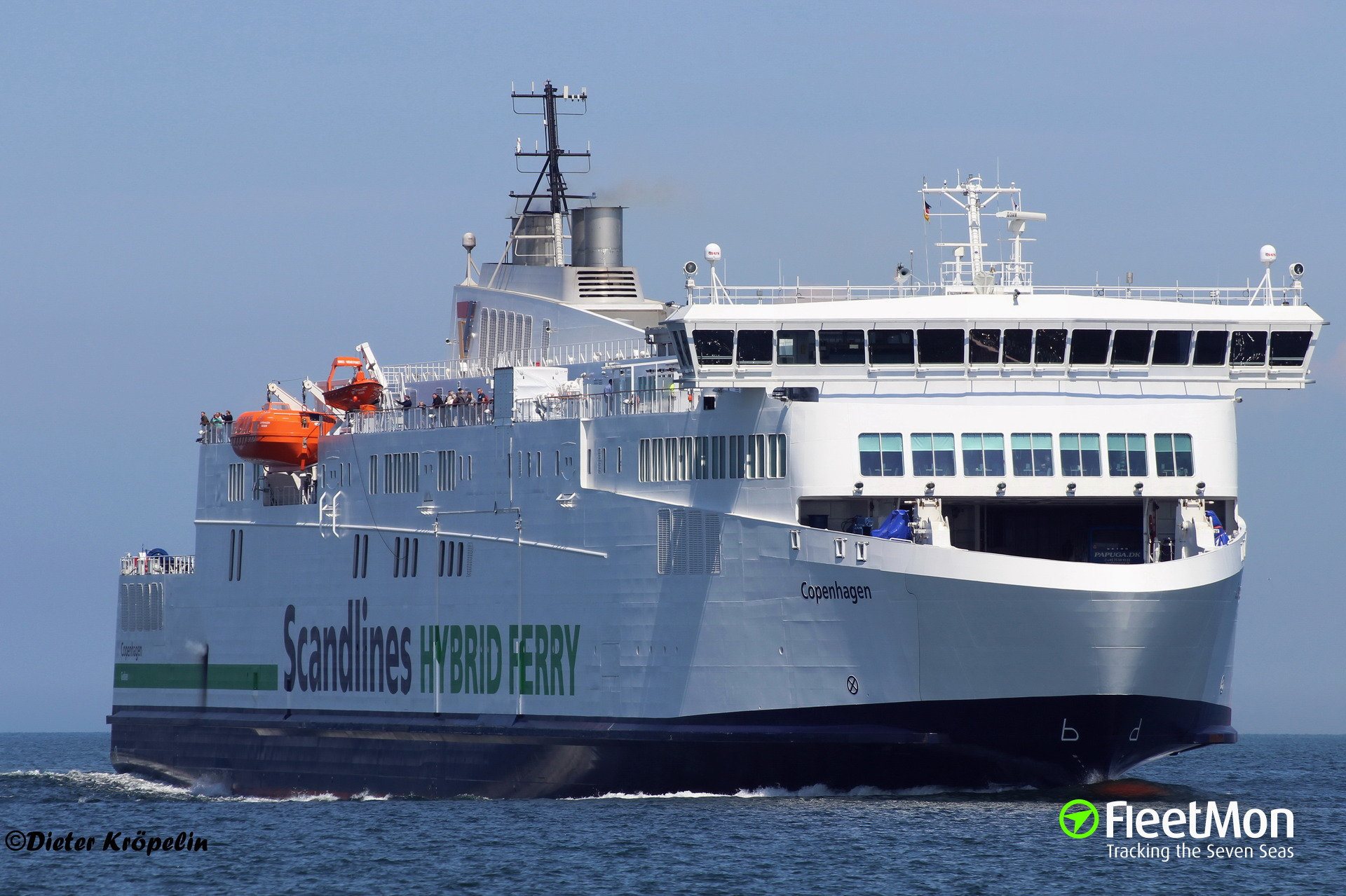 Brand new ferry COPENHAGEN was disabled for some 3 hours while sailing to Gedser