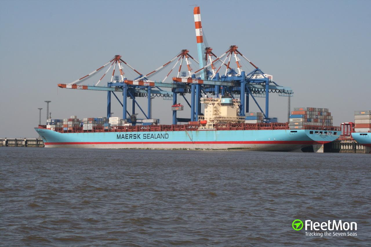 Vessel CORNELIUS MAERSK (Container ship) IMO 9198587, MMSI