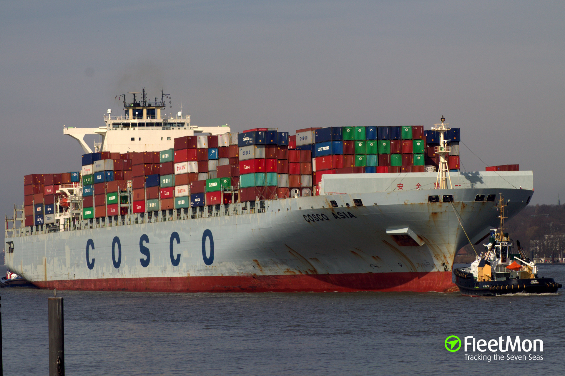 Mega boxship COSCO Asia attacked by terrorists in Suez Canal?