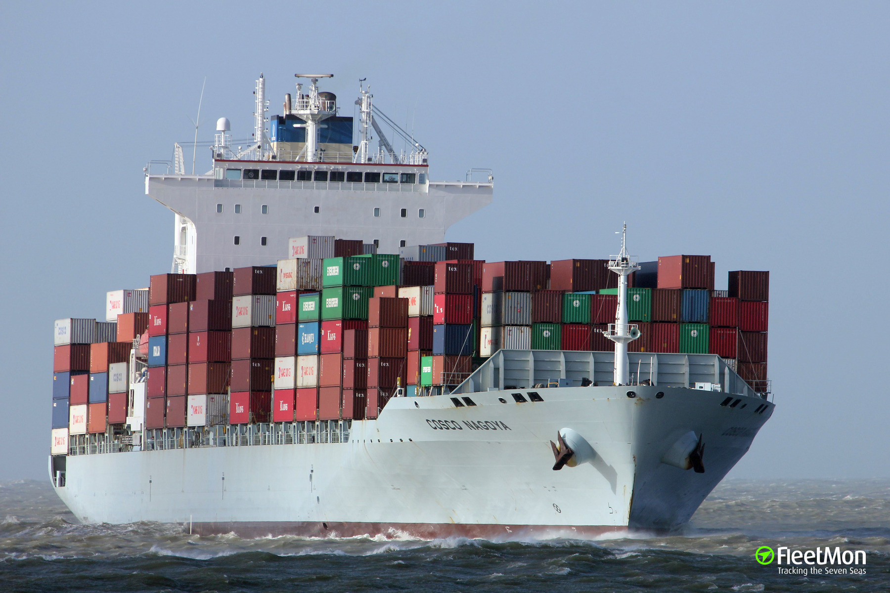 COSCO Nagoya lost 79 containers in storm, Bay of Biscay