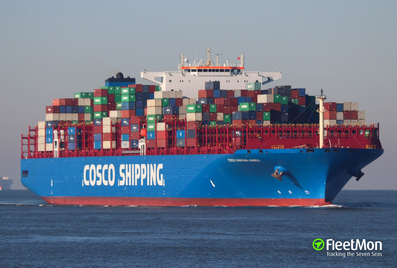 Vessel COSCO SHIPPING ANDES (Cargo ship) IMO 9757888, MMSI