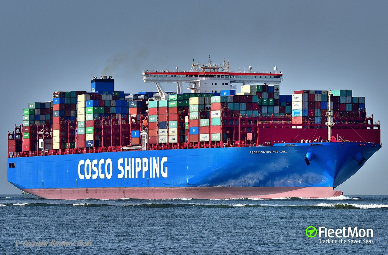 Vessel COSCO SHIPPING LEO (Container ship) IMO 9783502, MMSI