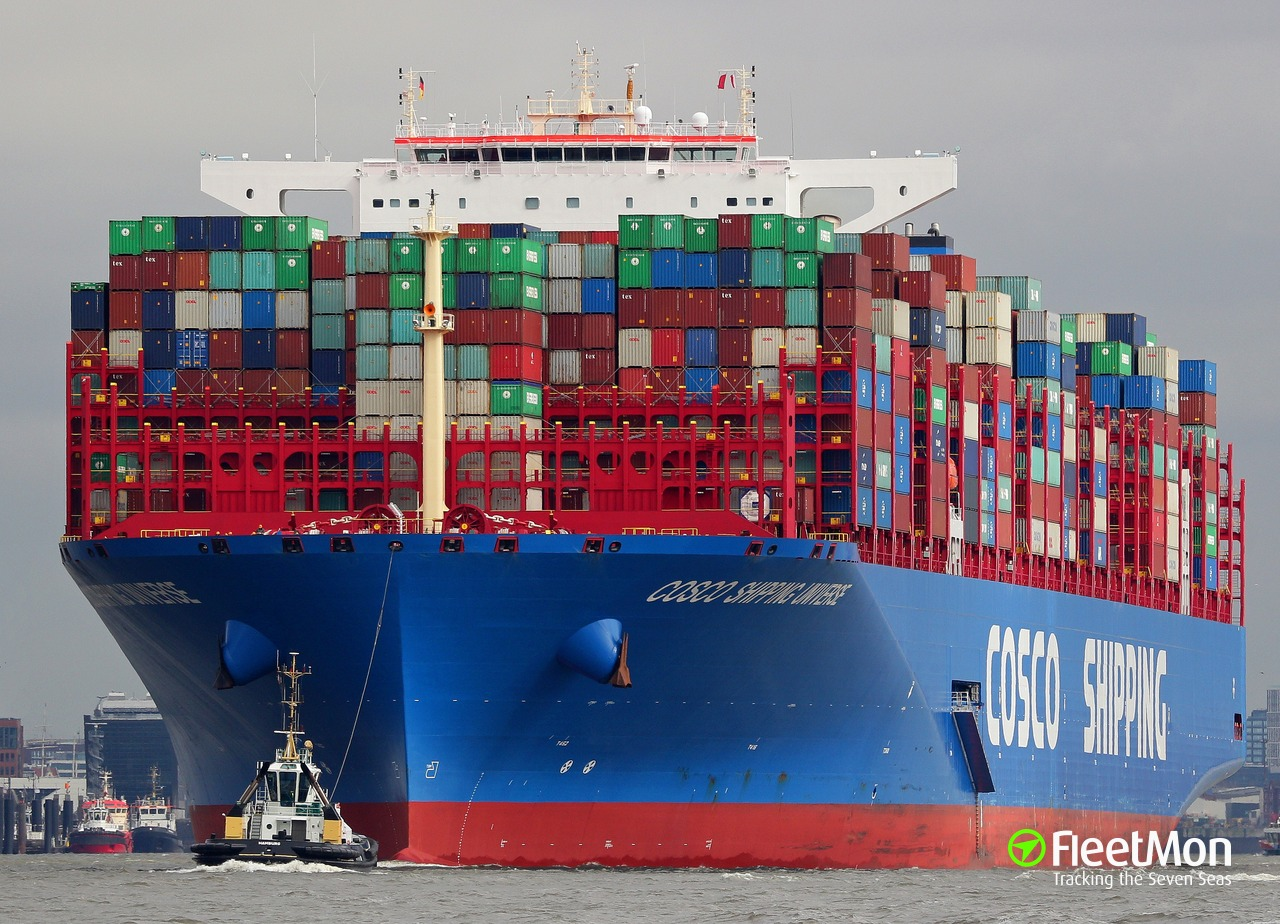 Vessel COSCO SHIPPING UNIVERSE (Container ship) IMO 9795610, MMSI