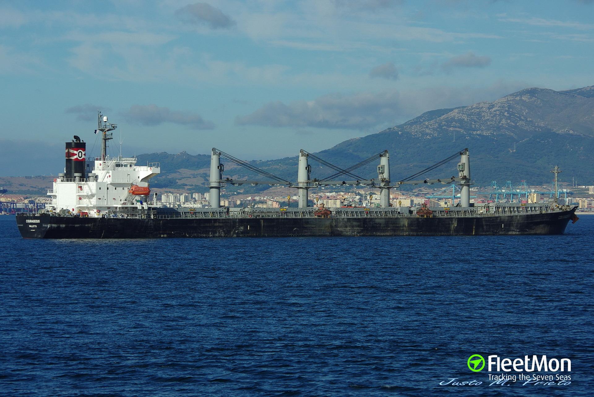Bulk carrier aground, Lebanon