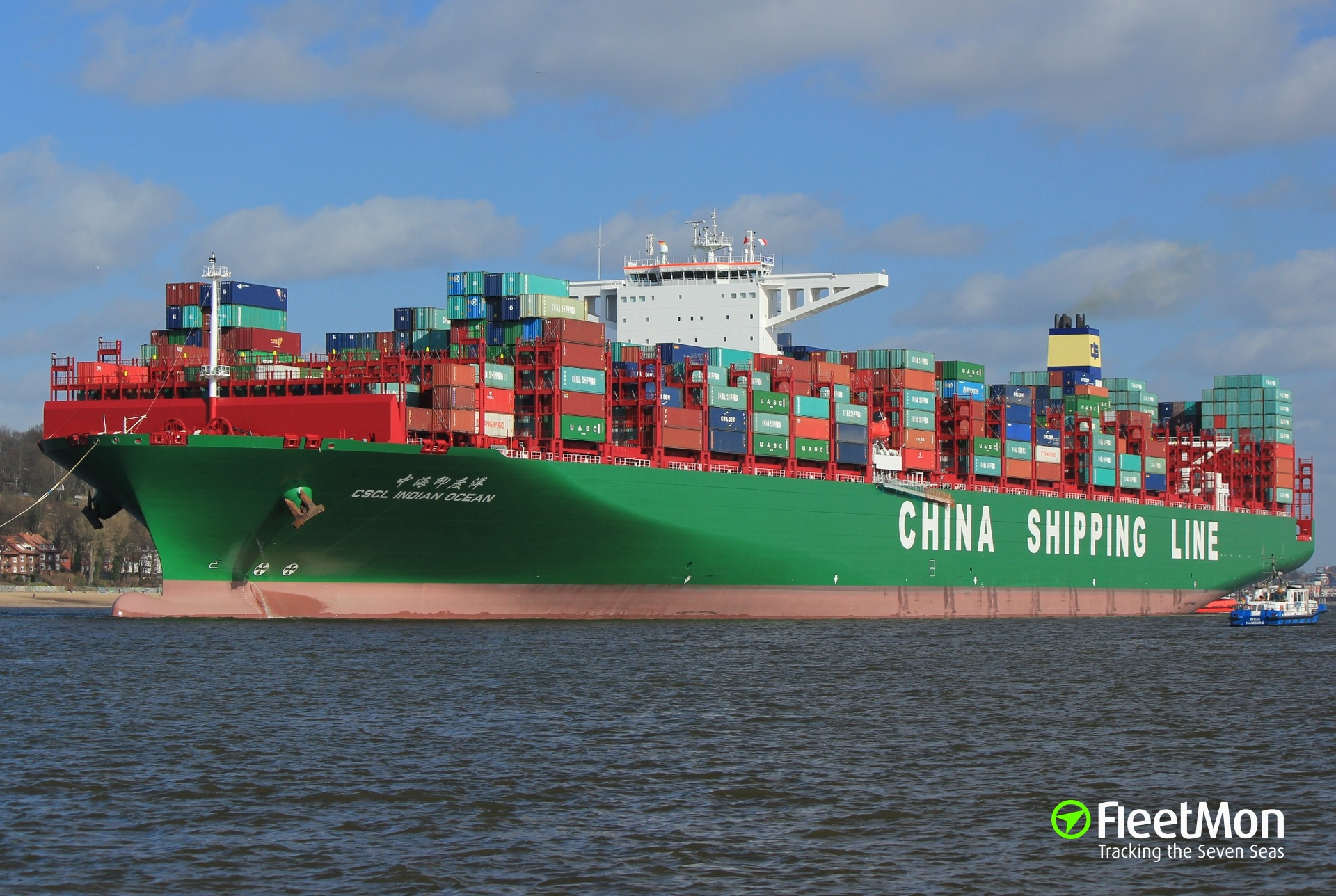 Four containers fell from mega CSCL INDIAN OCEAN