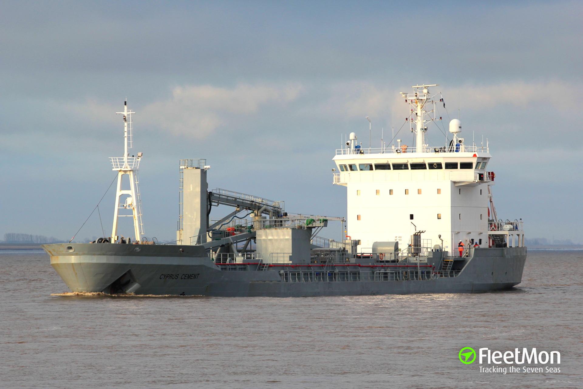 Cement carrier Cyprus Cement wreaked havoc in Levanger marina, Norway