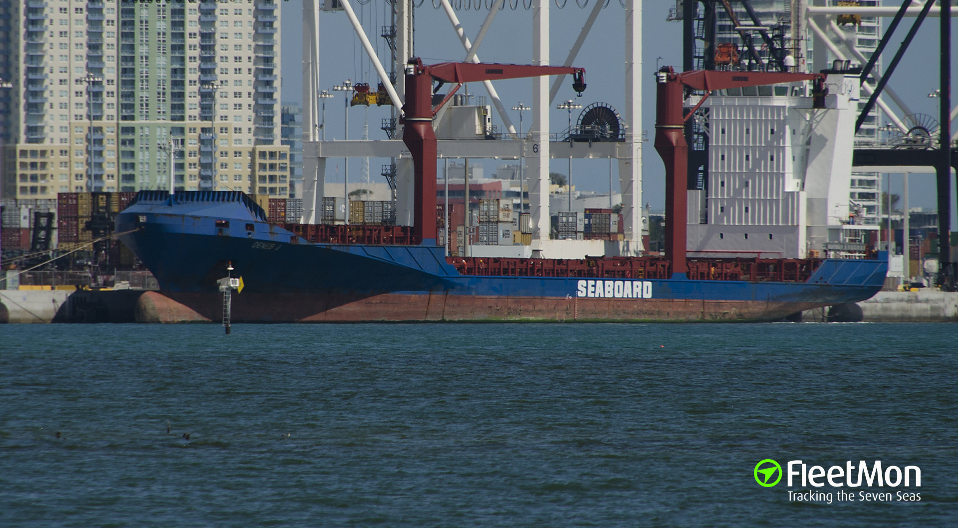 Boxship towed back to Miami