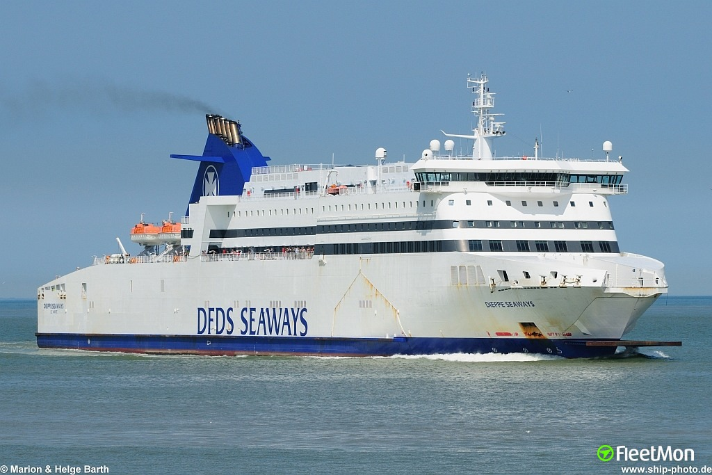 Fire on ferry DIEPPE SEAWAYS