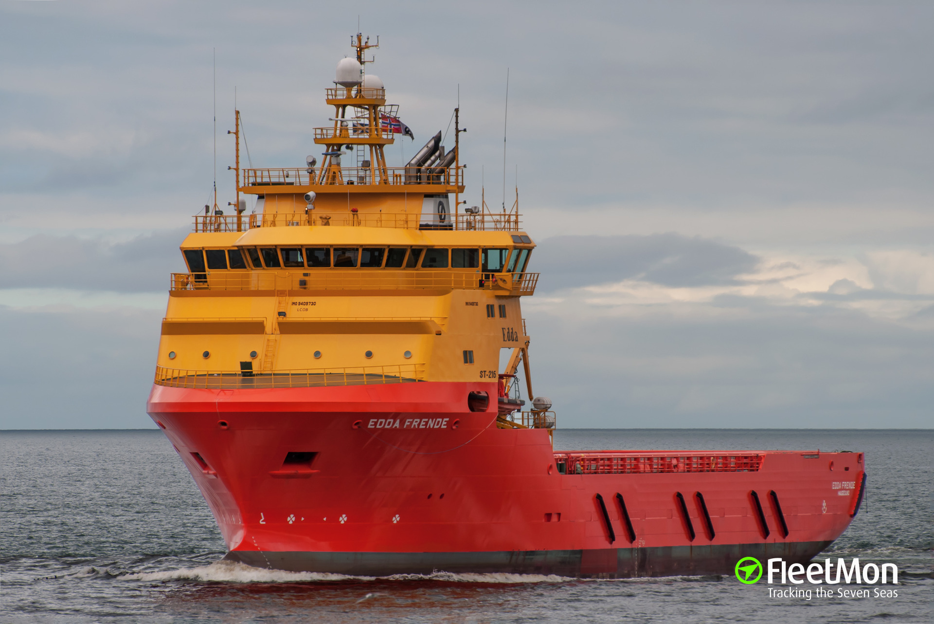Offshore tug supply vessel Edda Frende fire