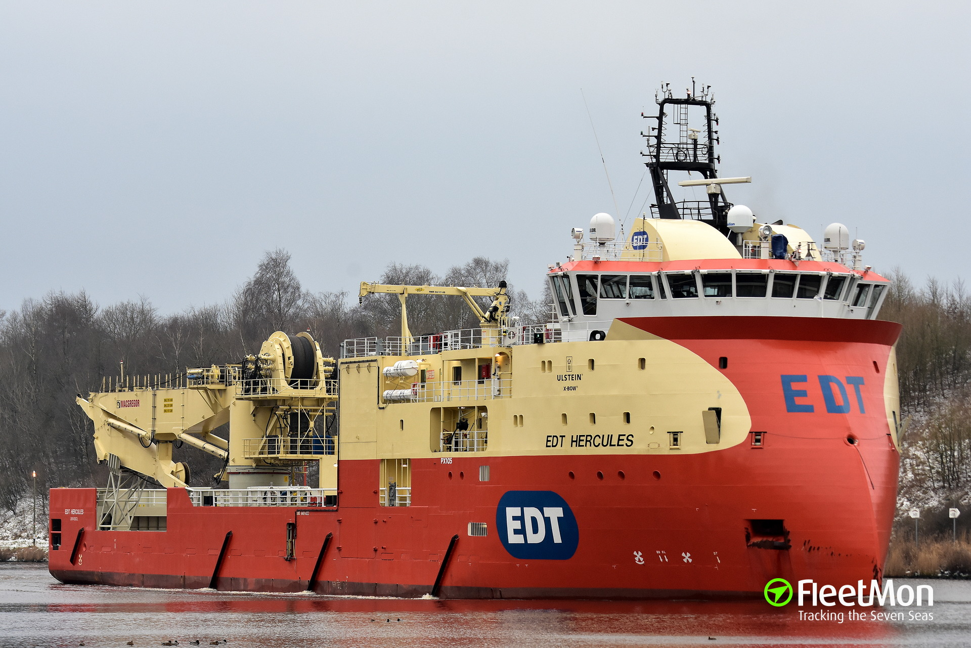 EDT HERCULES vs. PROSPERO, Kiel Canal