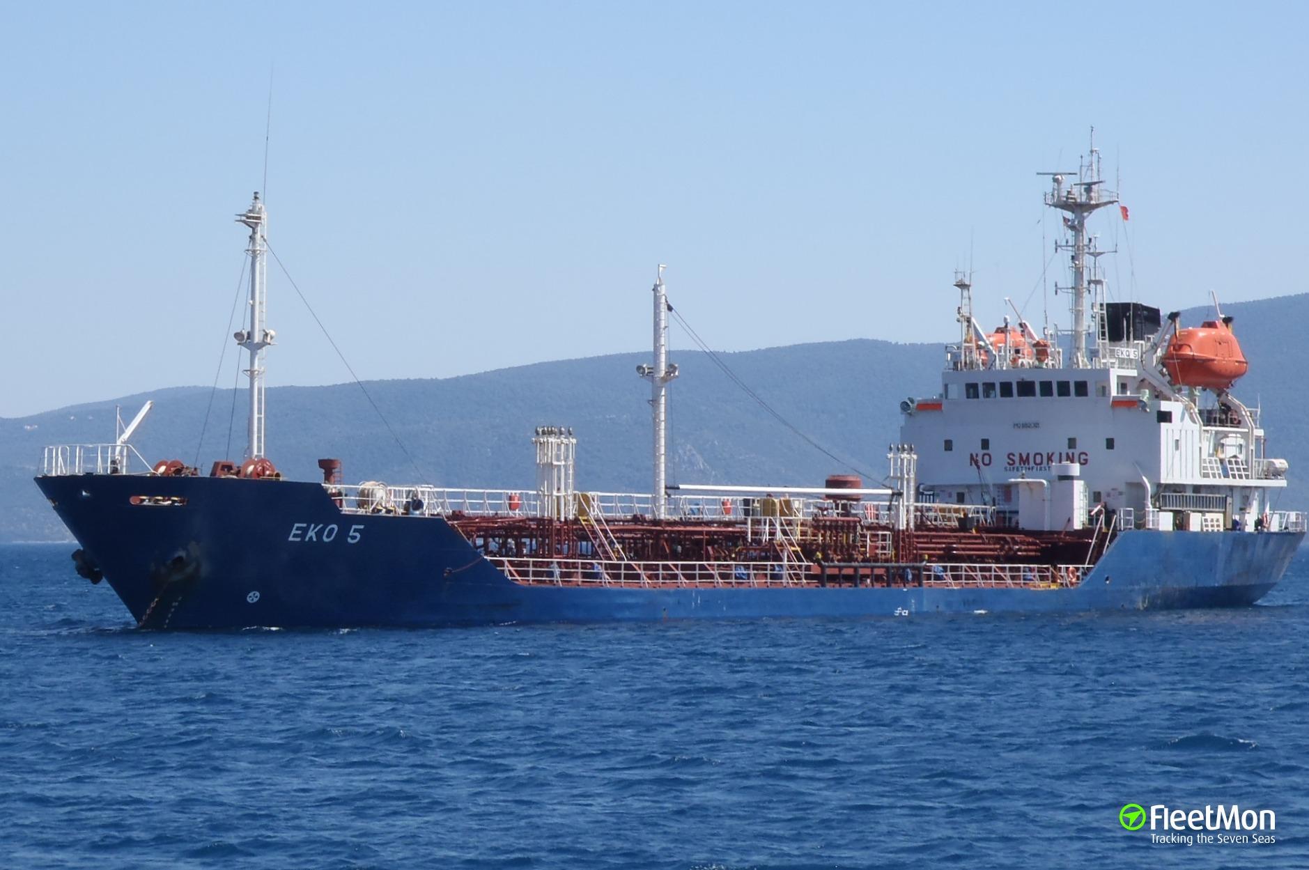 Chemical tanker EKO 5 troubled in Aegean sea