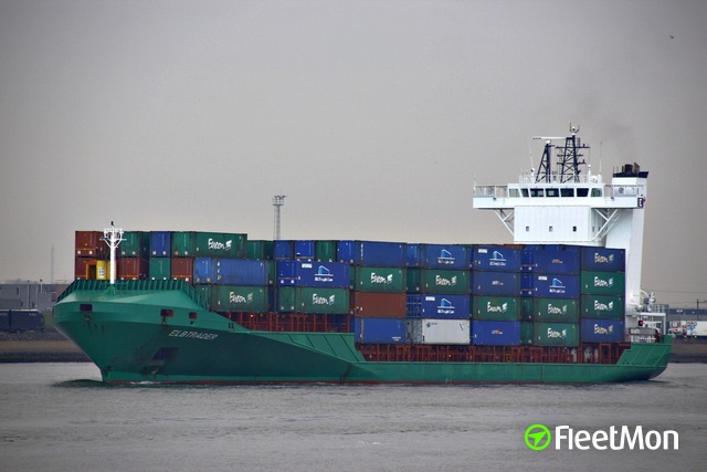 Container ship ELBTRADER disabled, towed to safety, English Channel