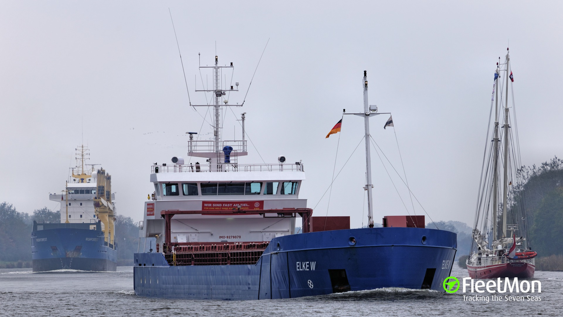 Freighter collided with pilot ship in North sea, both damaged