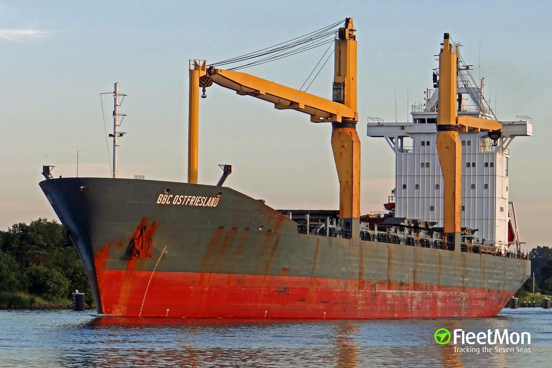 General cargo vessel BBC OSTFRIESLAND troubled