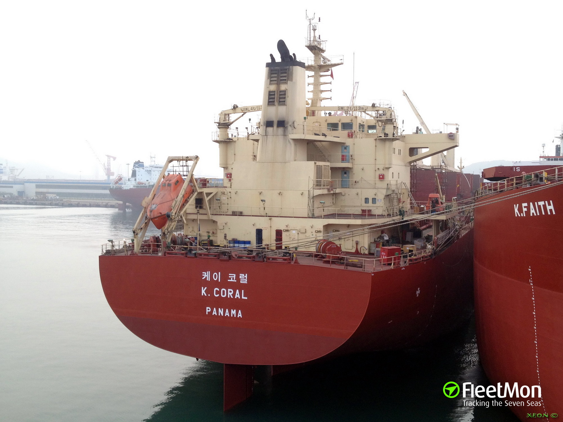 Bulk carrier K.Coral abandoned by Filipino crew in Newcastle
