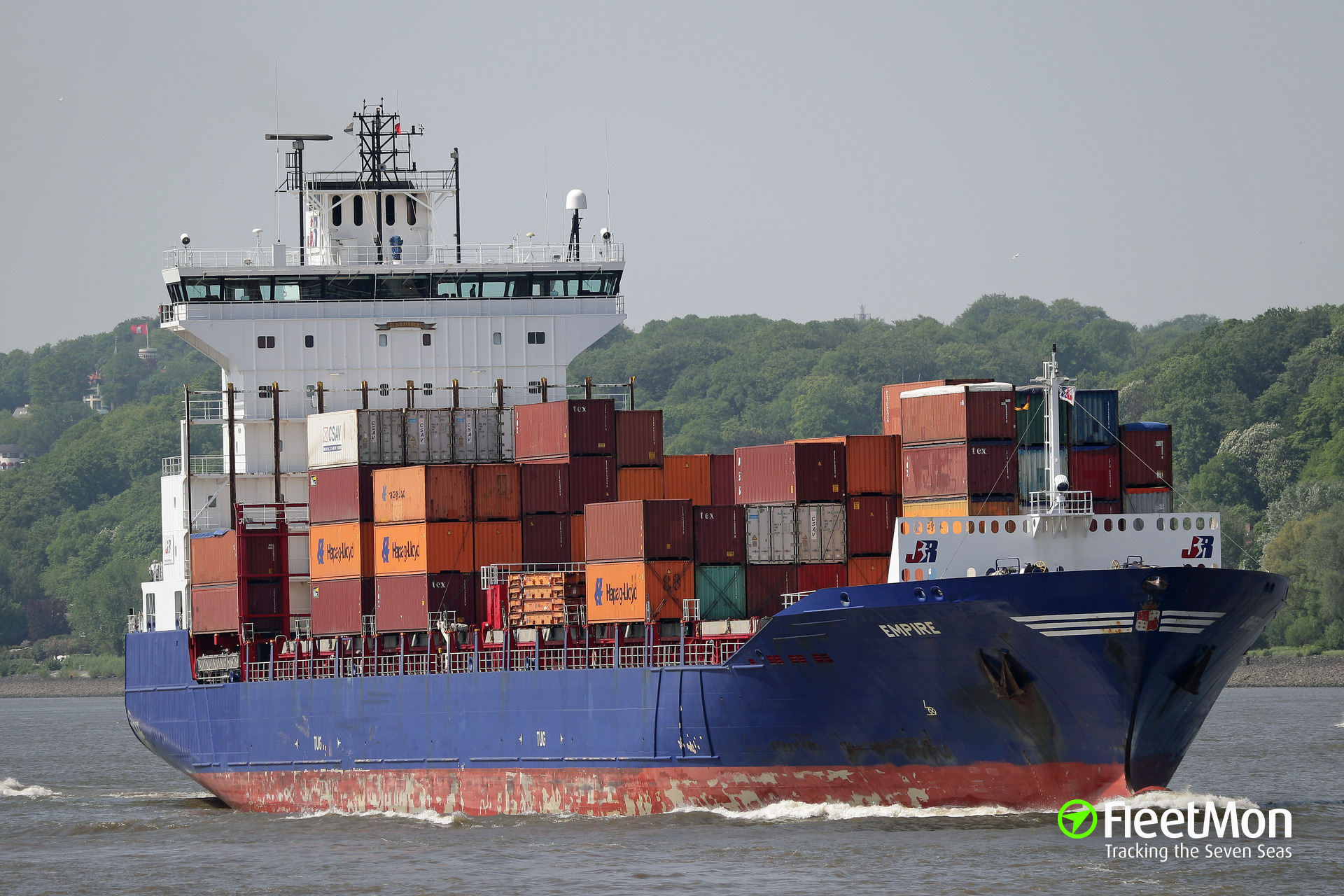 Boxships Empire and Herm Kiepe collided in Kiel canal