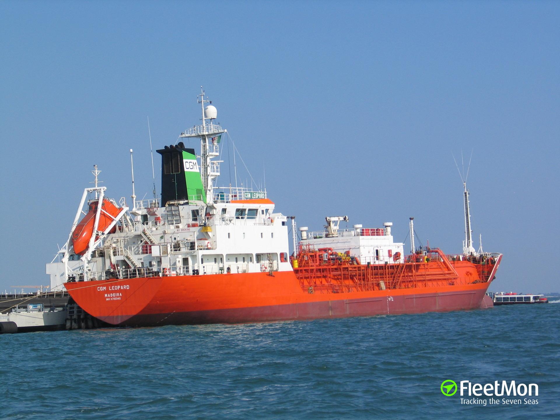 LPG tanker ENERGEIA troubled in Eleusis, Greece