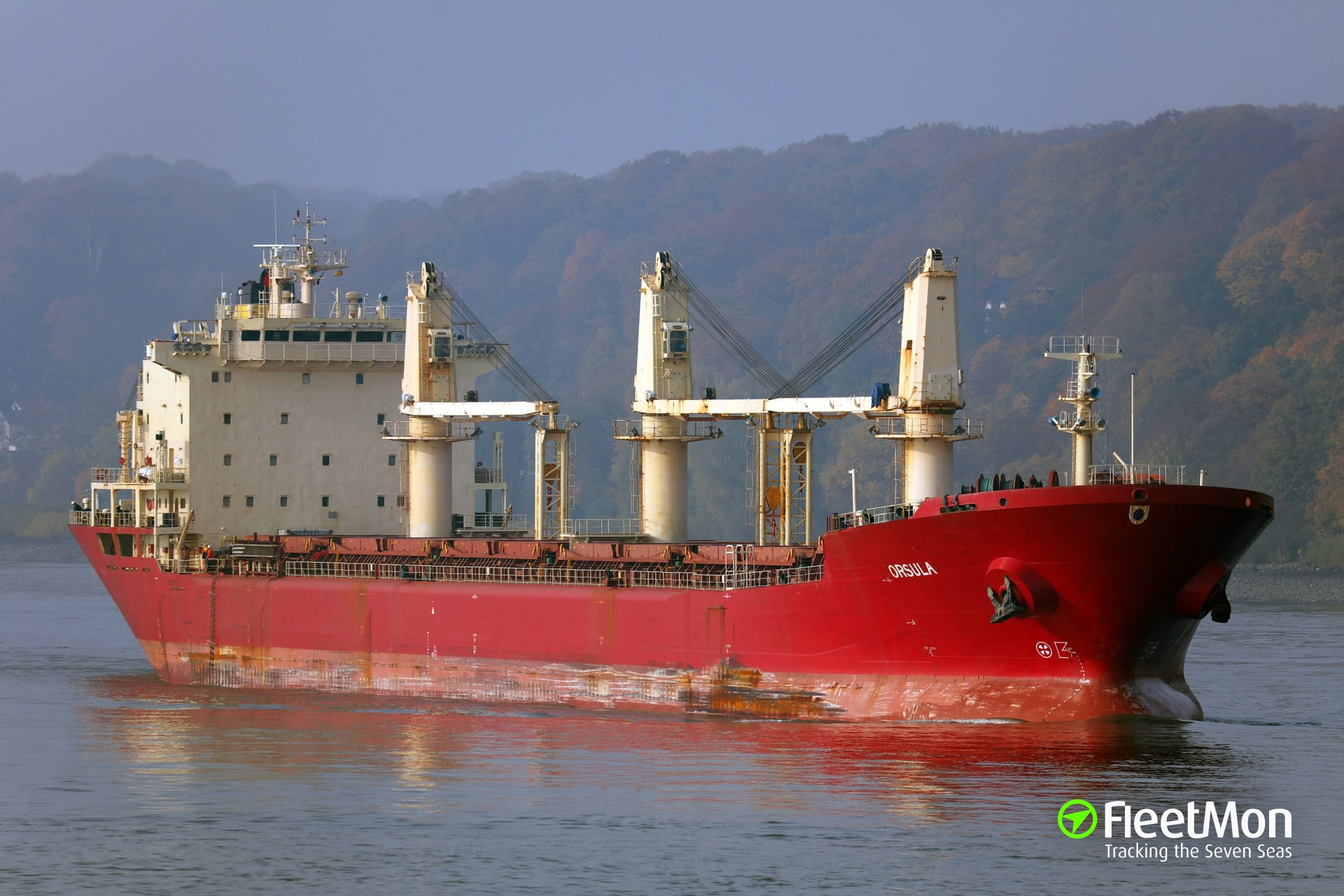 Bulk carrier Orsula reportedly aground, Great Lakes