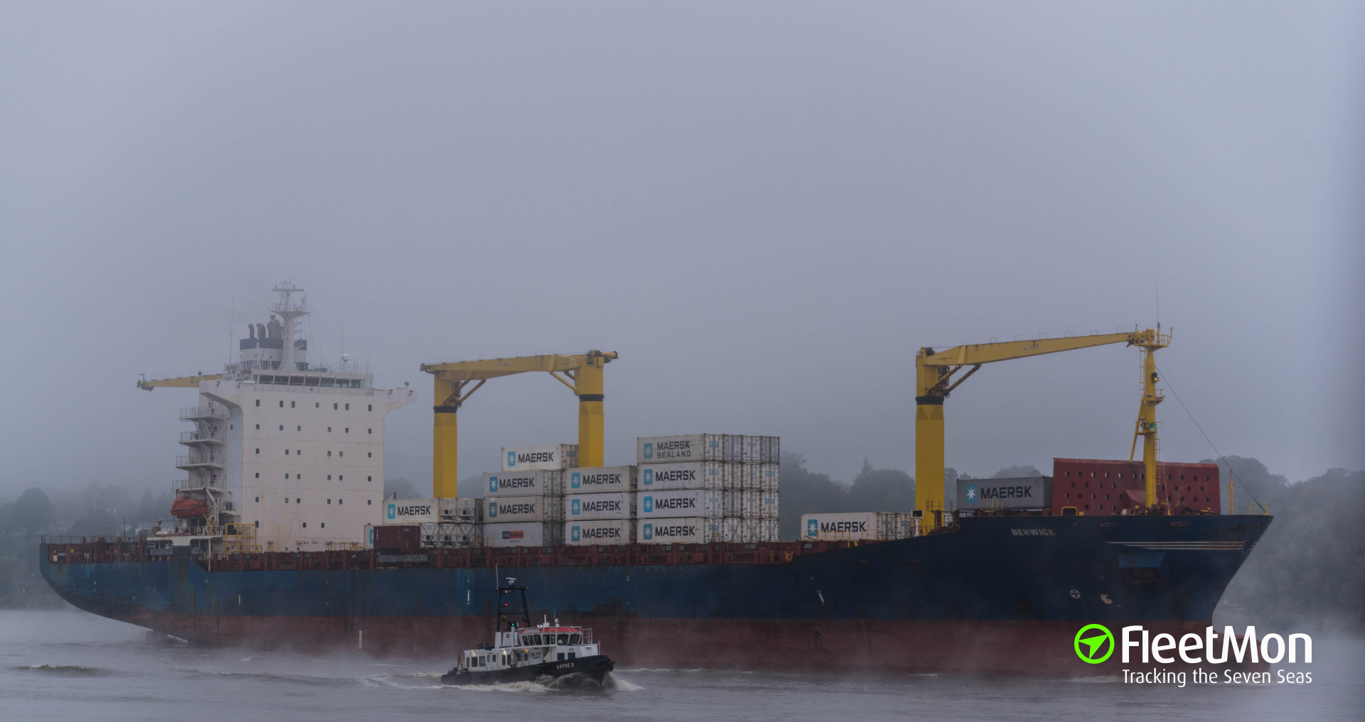 Container ships BERWICK and VICTORIA collided off Hook of Holland UPDATE