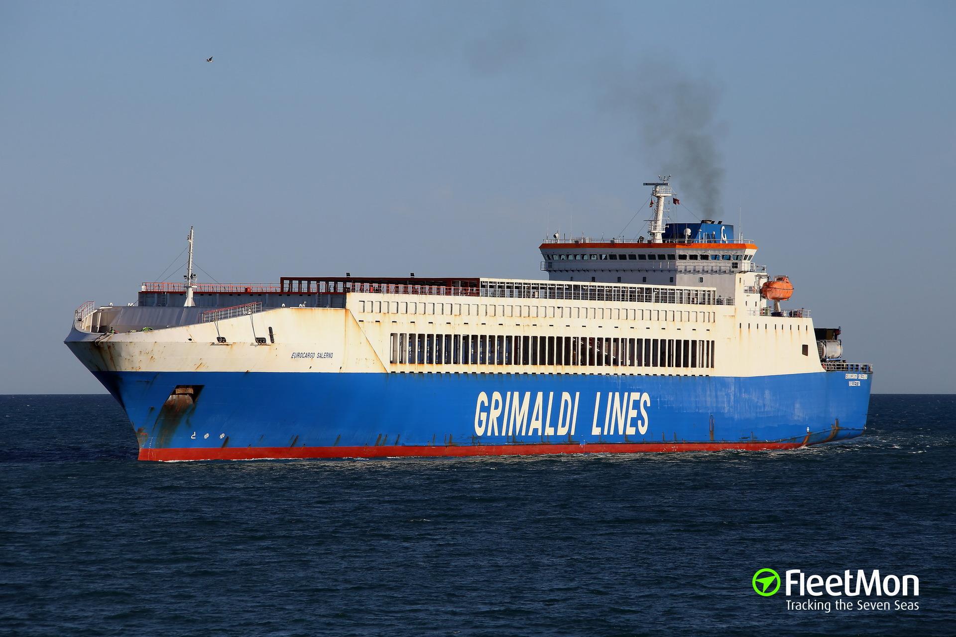 Nigerian Navy arrested Grimaldi's ro-ro Eurocargo Salerno suspecting toxic wastes on board