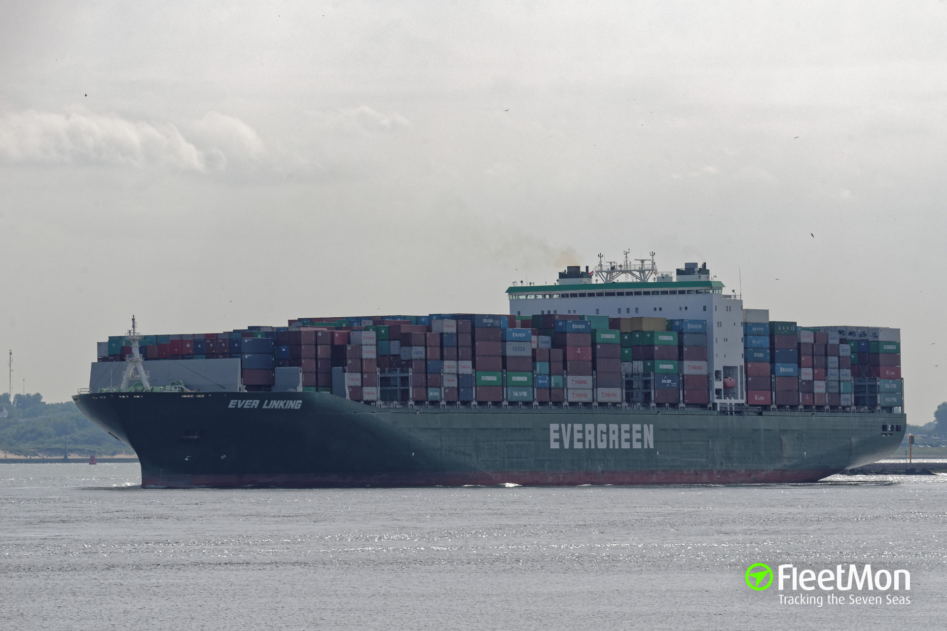 Boxship Ever Linking damaged in Perama, Greece